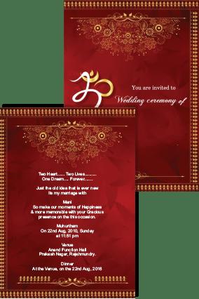 download hd red wedding invitation card