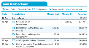 bank statments
