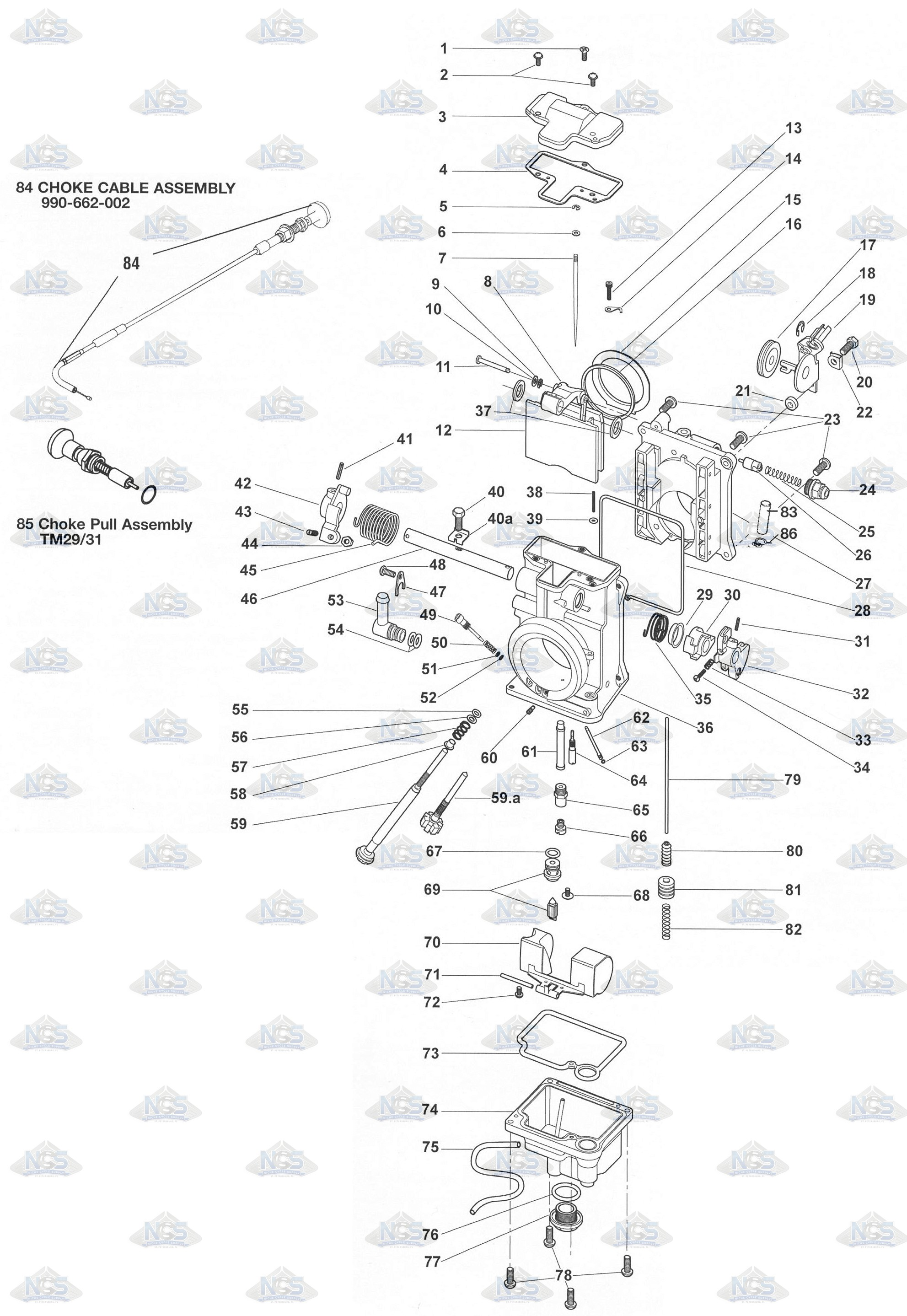 44mm Mikuni Carb Diagram