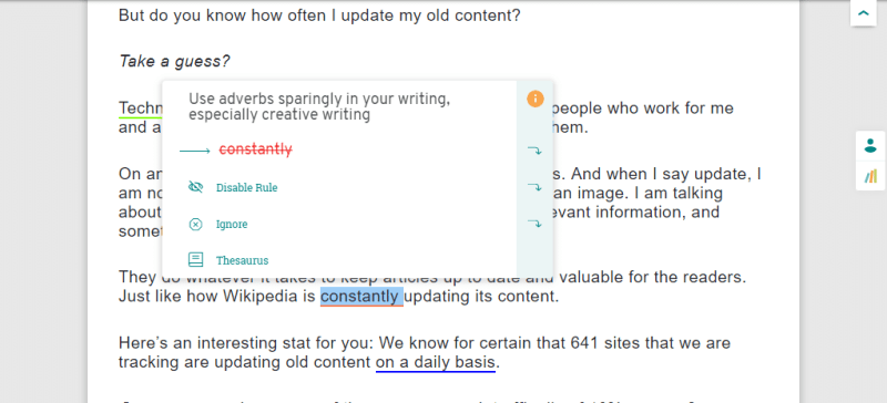 use of adverbs in prowritingaid