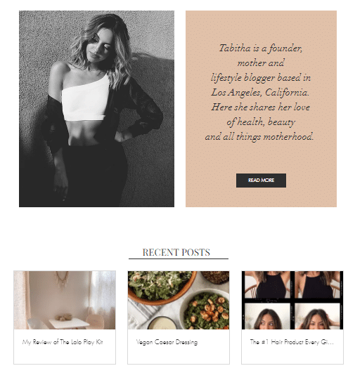Simply Tabitha personnal web page