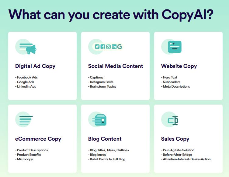 Sales copy generator