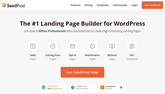 seedprod - How To Create A Landing Page In WordPress: 7 Most Effective Methods