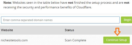 Cloudflare Continue Setup