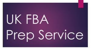 UK FBA Prep Center Service