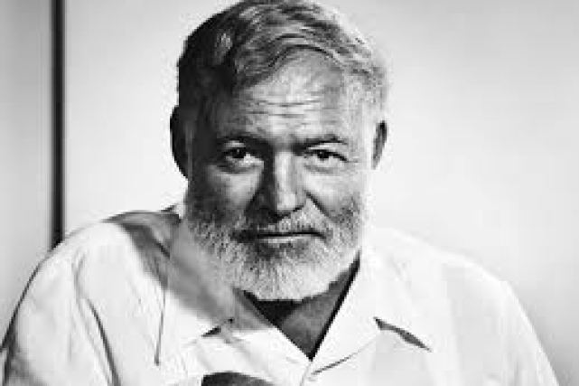 Ernest Hemingway, the man who can never die.
