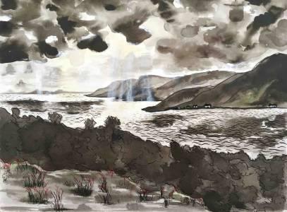 Landscape, Ink, Nichola Scrutton