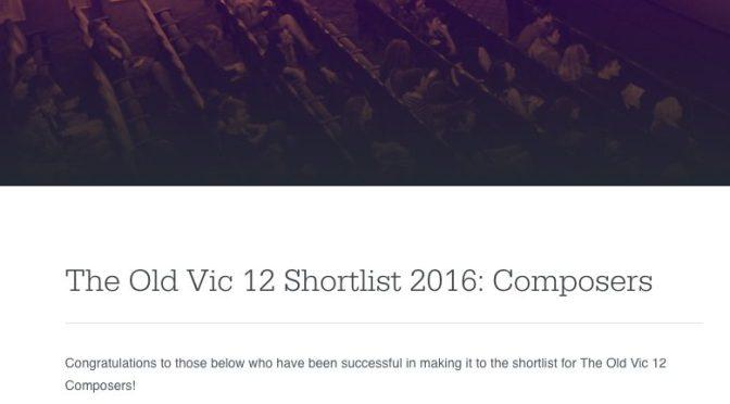 Old Vic 12 Shortlist