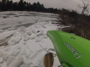 Some days are just not meant to be kayaking days. But at least I only walked 100 yds to get skunked.