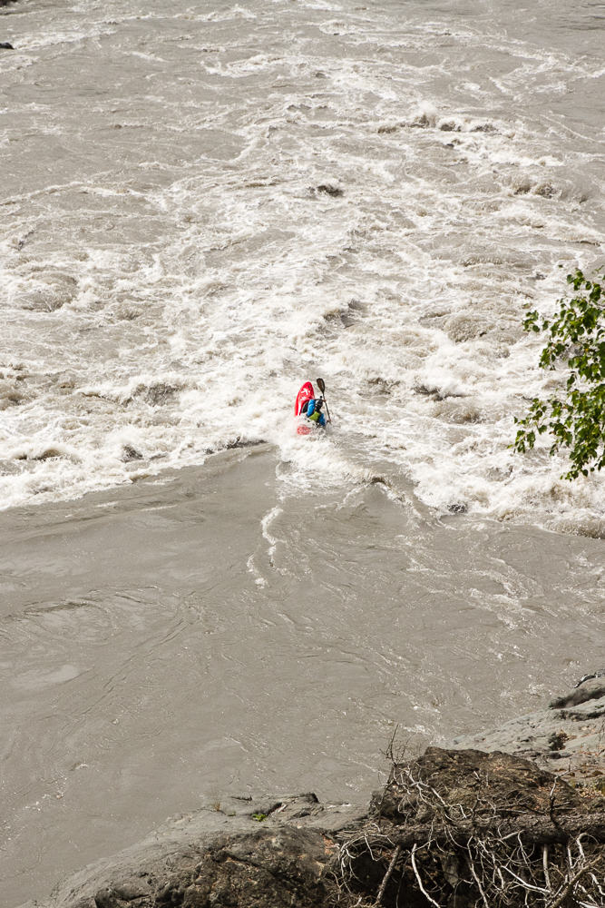 Ryan Lucas paddles the rapid just below Tanzilla Slot, the last major feature on the Grand Canyon of the Stikine in northern British Columbia.