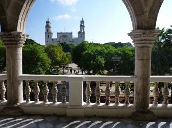 Merida town plaza