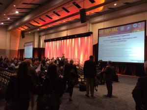 Crowded house for Commercial space flight plenary.