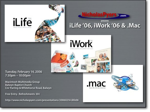 iLife '06, iWorks '06 & .Mac
