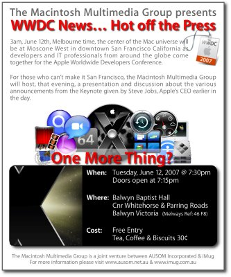 WWDC News... Hot off the Press