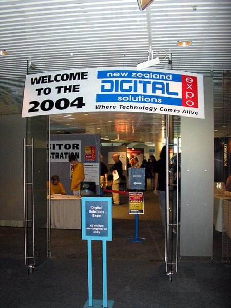Entrance to the New Zealand Digital Solutions Expo