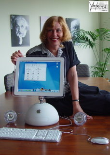 Susan with the new iMac