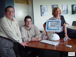 Ron, Nicholas and Susan with iMac