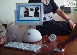 iMac base showing iPod photo