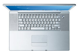 17-inch PowerBook Top View