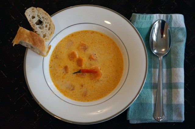 Thai Pumpkin Curry Coconut Soup – five ingredients