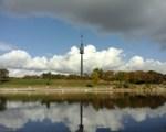 Wolken überm Donaupark