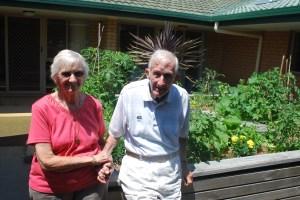 Joan and a fellow gardener