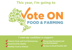 Campaign postcard for the Local Food Act