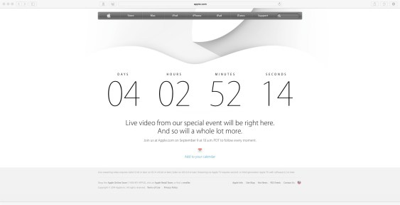 Countdown to Apple Event