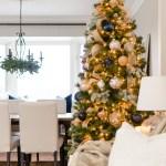 Navy And Gold Christmas Tree Nick Alicia