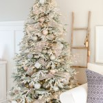 A Snowy Flocked Christmas Tree Nick Alicia