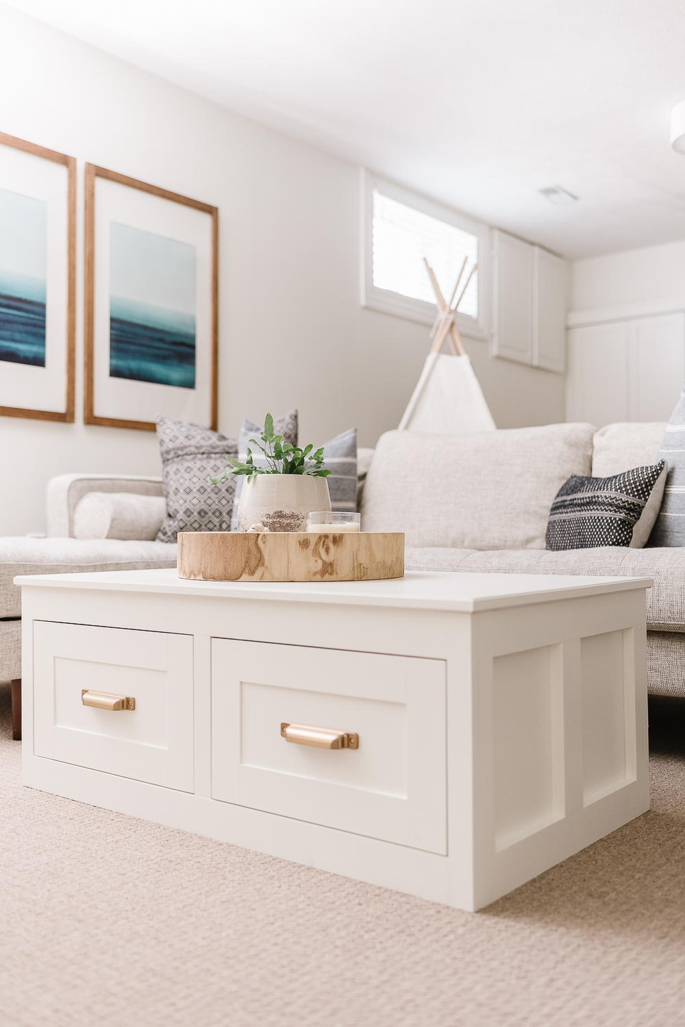 coffee table with storage free plans