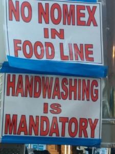 No Nomex in Food Line
