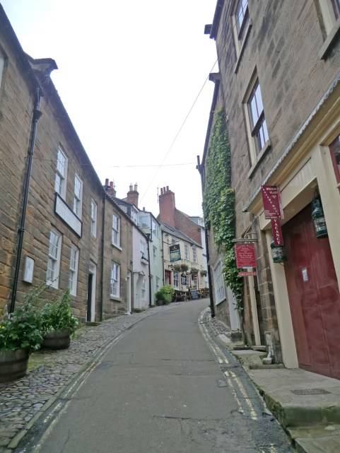 King Street in Robin Hood's bay.  Its never an easy walk in this place.