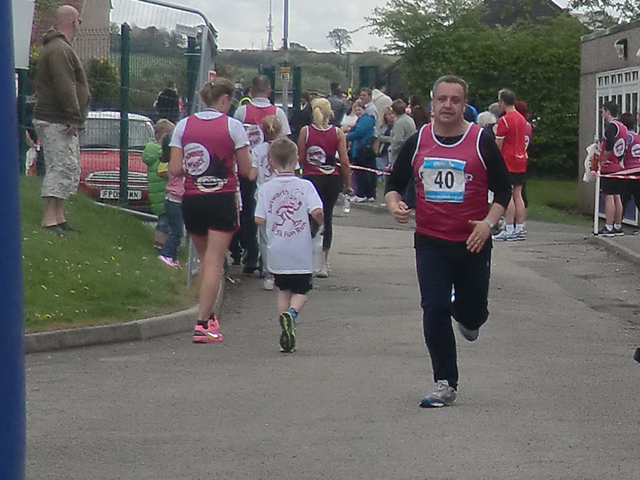 Awsworth 5K finish line