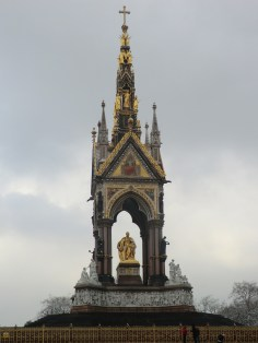 The Albert Memorial at Kensington Gardens.