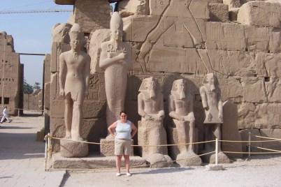 Sam inside Karnak Temple, precinct of Amun Ra.