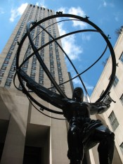 Atlas statue in front of Rockefeller Center