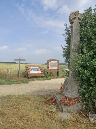 Towton Cross memorial at the battlefield site.