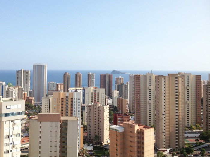 View of Bendiorm from hotel