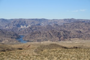 Black Canyon and narrow river like portion of Lake Mohave