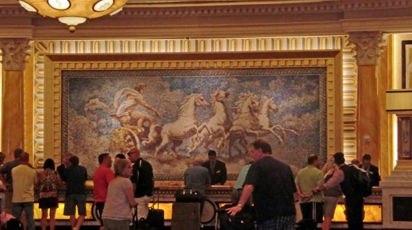 Main reception inside Caesars Palace