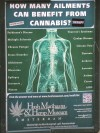 Cannabis poster for the hash museum. Strange how it doesn't mention what it may cause.