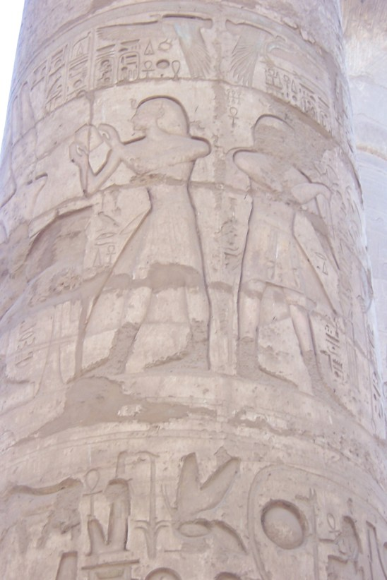 The carvings at Hypostyle Hall are still clear after thousands of years although colour has been lost.
