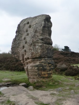 Cork Stone landmark on Stanton Moor