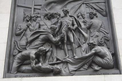 East face plinth Nelson's Column