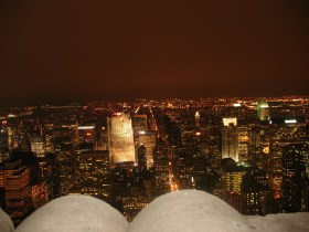 View from Empire State and was bloody freezing. Started snowing while we were up here