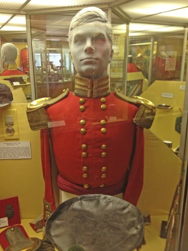 Uniform in the Sherwood Forester's museum inside the castle.