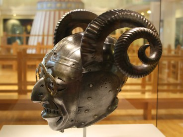 Side view of the Horned Helmet for Henry VIII