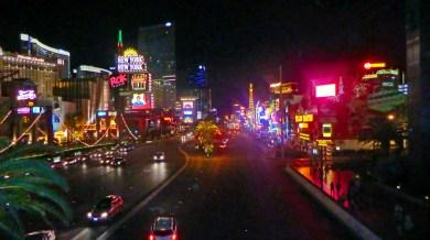 Las Vegas Boulevard looking North at nigh