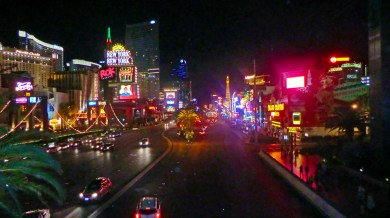 Las Vegas Boulevard looking North at nigh